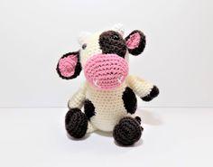 Clover the Cow crochet pattern **pattern only** by KrigsCrochet on Etsy