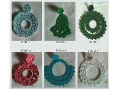 Crochet earrings / pendientes de crochet