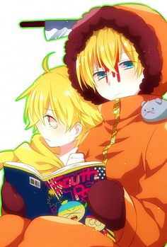 South Park Butter and Kenny Anime
