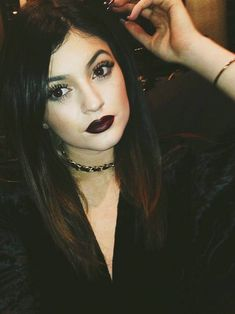 Kylie Jenner Goes Goth For Christmas: See the Dark Look - Us Weekly