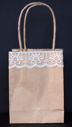 Gift Bag  Lace Small by PepperedTales on Etsy, $2.50