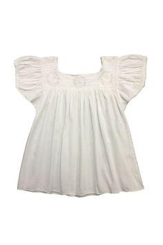 White Mexican Cotton Blouse