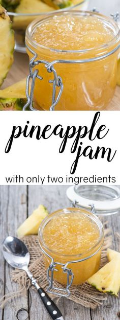 this pineapple jam with only 2 ingredients Quick and easy pineapple jam with only 2 ingredients. This looks SOOOOO good!Quick and easy pineapple jam with only 2 ingredients. This looks SOOOOO good! Jelly Recipes, Dessert Recipes, Carrot Recipes, Easy Jam Recipes, Potato Recipes, Icing Recipes, Cabbage Recipes, Fruit Recipes, Recipes Dinner