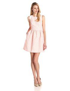 Jessica Simpson Women's Coral Overlay Dress