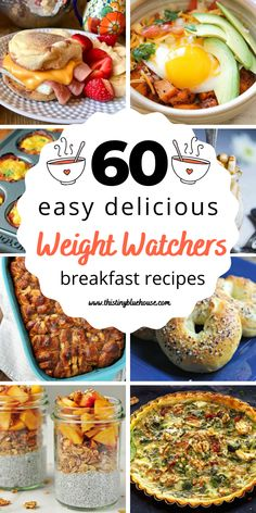 Add these easy, simple and delicious Weight Watchers breakfast recipes to your meal plan this week. Weight Watchers Lunches, Weight Watchers Breakfast, Weight Watchers Diet, Weight Watcher Dinners, Weight Watchers Chicken, Delicious Breakfast Recipes, Easy Healthy Breakfast, Ww Recipes, Healthy Recipes
