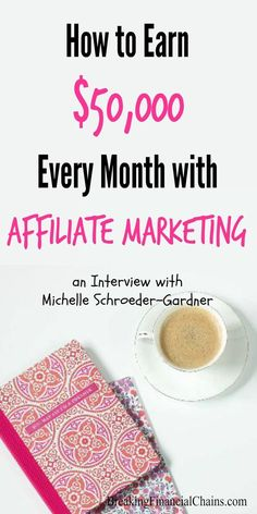 Interview with Michelle Schroeder-Gardner, 6-figure a month personal finance blogger and expert in affiliate marketing. Learn how you can make $50K a month. Make Money Blogging | Make Extra Money | Side Hustle | Blogging Interview | Passive Income | Affiliate Marketing |