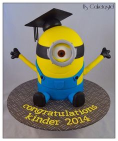 Minion Graduation Cake
