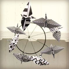 Contrast Origami Baby Mobile 8 different by NewsboyPaperSupply