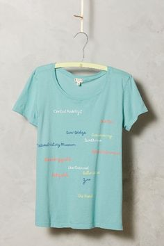 Scripted Tee - anthropologie.com