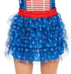 Adult Tiered Patriotic Stars Costume Tutu Skirt, Kostüme - Costumes, Kostüm, Costume, Fasching, Fasnacht, Karneval, Carneval, Mask, Masken, funny staff for events