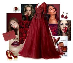 """""""Garnet"""" by sheri-gifford-pauline ❤ liked on Polyvore featuring Maria Bonita, Blue Candy Jewelry, Chanel, Clinique, Dennis Basso, garnet, January and birthstone"""