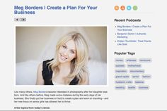 Create a plan for your business Meg Borders interview
