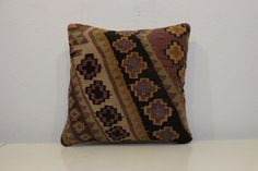 16x16 inch-Turkish kilim pillowHandwoven by kilimci on Etsy