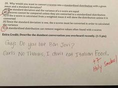 Professor Offers Hilarious Extra Credit Questions on Exam - Neatorama