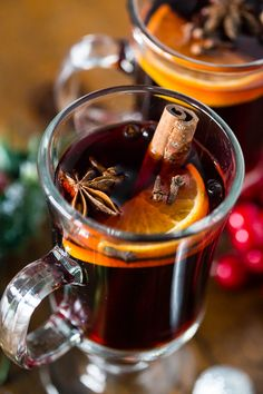 This slow cooker spiced mulled wine is perfect for large holiday gatherings. So warm and comforting it's bound to be the drink of the season. Plus it's kept warm all night long by heating in the slow cooker.