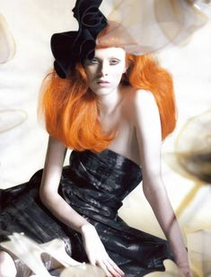 Karen Elson by Nick Knight for Vogue UK-October'2008