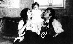 Priscilla, Lisa Marie, and Elvis Presley (C.1968)