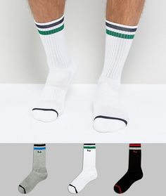 e87347643bf Pringle Socks In 3 Pack With Sport Stripe