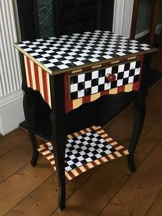Whimsically Painted Table