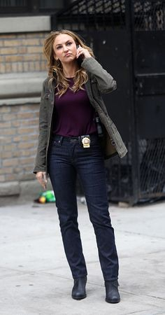 Drea De Matteo filming Barry Levinson's 'Shades Of Blue' on June 8 2015 in New York City