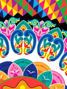 Trazos de la Carreta típica de Costa Rica, redibujado en ilustrador