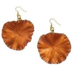 Amazon.com: John S Brana Orange Anodized Aluminum Lily Pad Earrings: Jewelry
