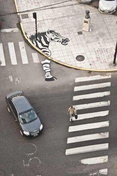 Zebra.  Street Art. Unknown Artist. #zebra #streetart #art #street