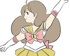 Sailor Moon x Bee and PuppyCat = Sailor Bee!  (credit: Arielle)