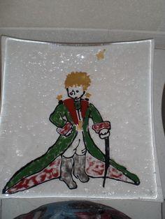 Fusing Glas , handgefuste Glasschale,Der kleine Prinz von Glasstueberl auf Etsy Prince, Fused Glass, Etsy Shop, The Petit Prince, See Through, Handmade, Painting Art, Kunst