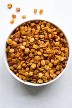 Crunchy Split Pea Snack | Every Last Bite Pea Recipes, Primal Recipes, Dog Food Recipes, Snack Recipes, Green Split Peas, Salt Free Seasoning, How To Cook Greens, Healthy Snacks, Healthy Eating