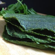 Spinach Wraps - raw, vegan, dehydrated, nut-free