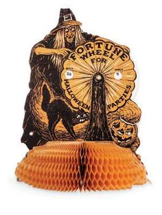Antique Halloween Honeycomb Decoration