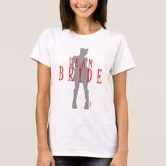 Team Bride Wedding Cat Woman by VIMAGO T-Shirt - bridesmaid gifts bridal bride wedding marriage