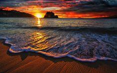 beach-waves-sunset-wide-high-definition-wallpaper.jpg (1920×1200)