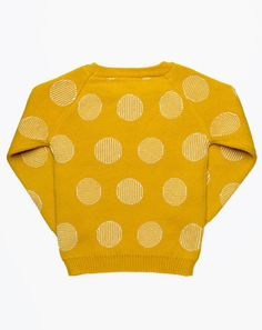 Micaela Greg Pinstripe Dot Sweater in Gold and Cream