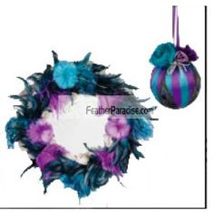 Purple/Teal Feather Wreath Feather Balls Wedding and events decoration Centerpieces Wholesale Bulk cheap discount