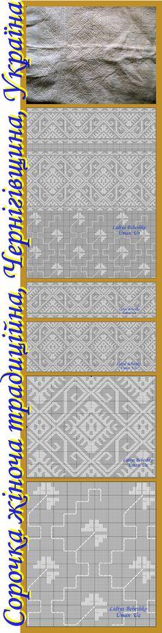 Нарукавна вишивка жіночої сорочки (Чернігівщина) з приватної збірки Олександра Опарія.