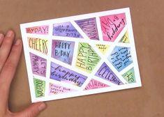 3 lustige & einfache DIY-Aquarellkarten: Tape Dessign Card 3 funny & simple DIY watercolor cards: Tape Dessign Card The post 3 Funny & Simple DIY Watercolor Cards: Tape Dessign Card # Watercolor Cards & appeared first on DIY. Creative Birthday Cards, Simple Birthday Cards, Funny Birthday Cards, Handmade Birthday Cards, Greeting Cards Handmade, Card Birthday, Birthday Greetings, Birthday Ideas, Diy Creative Cards