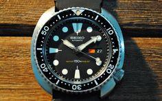SEIKO DIVER: SOLD: SEIKO Automatic Diver 6309-7040 Black Calendar