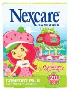 """Nexcare Comfort Pals Band Shortcake, Size:20 by Nexcare. $2.59. """"Description:  NEXCARE COMFORT PALS BAND SHORTCAKE, Size:20  Manufacturer:  3M PERSONAL AND HEALTH CARE  """""""