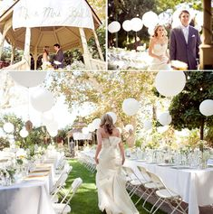 Wedding balloons! An easy, inexpensive way to add a lot of drama to your reception.