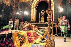 Holy Week Malaga. Guardia de la Legion al Cristo de Mena. Jueves santo 2013