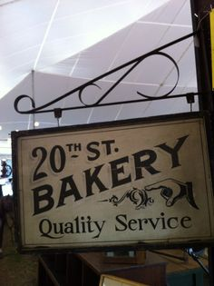 Antique Bakery Sign