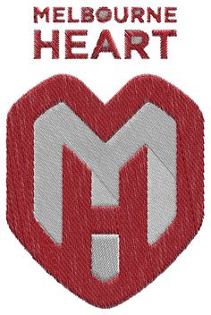 Melbourne Heart FC  machine embroidery design by BiaForceDesigns, $3.85