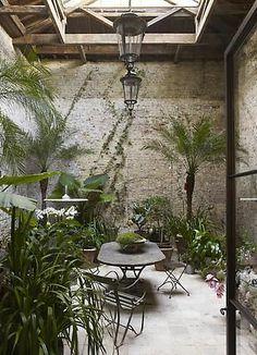 Winter Garden design by Rose Uniacke Outdoor Rooms, Outdoor Gardens, Outdoor Living, Outdoor Decor, Indoor Outdoor, Rose Uniacke, Interior Garden, Interior Design, Luxury Interior