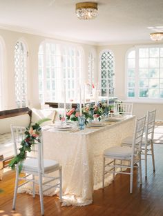 romantic indoor wedding - photo by Allison Marie Photography http://ruffledblog.com/wedding-inspiration-at-longview-mansion