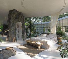 Dream Home Design, My Dream Home, House Interior Design, Glass House Design, Retro Interior Design, Unique House Design, Mansion Interior, Dream House Interior, Interior Garden