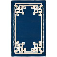 Surya Alameda Santorini Sapphire Blue Hand Woven Rug @Zinc_Door 2x3 = $80  Front door?  Too dark for Ched fur?