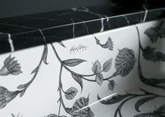 Inspired By A 16th Century Turkish Design Botanical Study Bathroom Sink Features Intricate Line