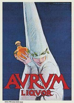 Marcello Dudovich Aurum Liquor, 1910 c.